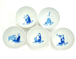煎茶碗 JAZZ  5客組