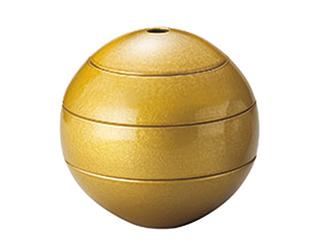漆石 珠型三段重 中 ゴールド