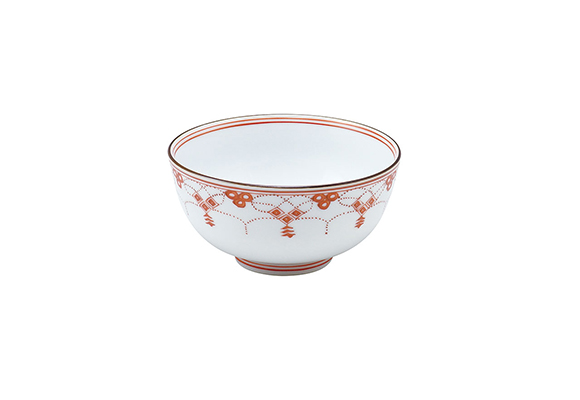 錦瓔珞紋 三・八寸飯碗