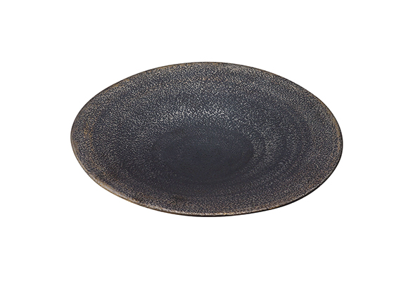 梨地金銀彩 丸26cmプレート