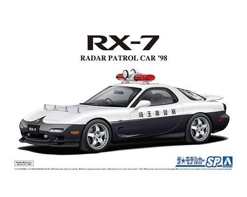 自動車プラモデル 人気海外一番 引出物 1 24 ザ モデルカー No.SP アオシマ FD3S マツダ '98 RX-7 レーダーパトロールカー