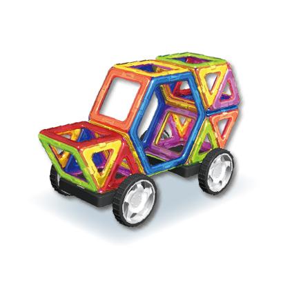トラスト 3歳~ 知育玩具 マグブロック MB04 超美品再入荷品質至上 くるまセット 34ピース TKクリエイト