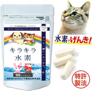 《リピ続出》話題 水素で元気 ずっと一緒でいたいから 特許製法 愛猫に キラキラ水素90入 水素水 と違い長時間持続 ペット用 日本限定 水素サプリ 高齢猫 サプリ に混ぜてもOK 猫 キャットフード ちゃん ペット 介護 ペットフード が必要な 国内在庫 老猫