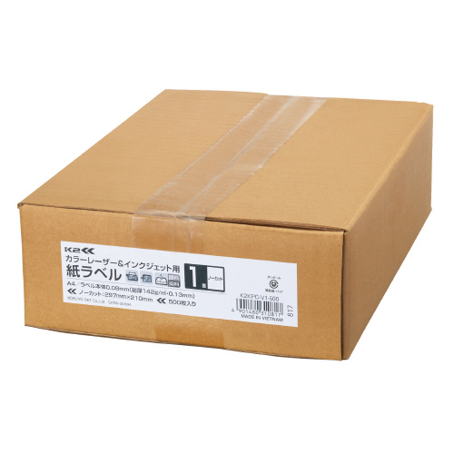 コクヨ OAラベル レーザー インクジェットプリンター両用 A4判 ノーカット 入り数:500枚 贈与 ラベルサイズ:210x297mm 0.08mm メーカー品番:K2KPC-V1-500 クリアランスsale 期間限定 総厚 0.13mm 紙厚:ラベル本体 白色度約90%
