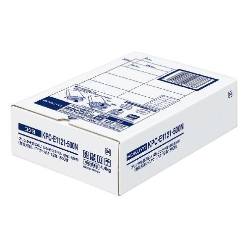 コクヨ OAラベル レーザー インクジェットプリンター両用 AL完売しました A4判 SEAL限定商品 12面 白色度約85% 台紙からはがしやすい 入り数:500枚 はかどりラベル ラベルサイズ:W86.4xH42.3mm メーカー品番:KPC-E1121-500N