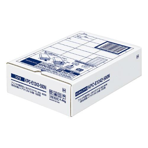人気の定番 コクヨ OAラベル レーザー インクジェットプリンター両用 本日限定 A4判 24面 四辺余白あり 台紙からはがしやすい 入り数:500枚 メーカー品番:KPC-E1242-500N はかどりラベル 白色度約85% ラベルサイズ:W66xH33.9mm