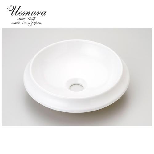 要在庫確認 洗面ボウル 上村陶磁器 ホワイトウォッシュボウル 無地ラウンドS WS-11 日本製 送料無料 陶器 洗面器 手洗い器 半埋め込み