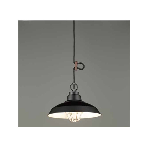 後藤照明 屋内照明 ペンダントライト 〆付けガードアルミ配照セード・CP型BK GLF-3485BK