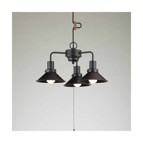 後藤照明 屋内照明 ペンダントライト Monte Luce Series アンナプルナ アルミP5S黒・3灯用CP型BK GLF-3460