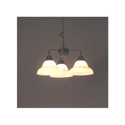 後藤照明 屋内照明 ペンダントライト ベルリヤ硝子セード・3灯用CP型BK GLF-3252