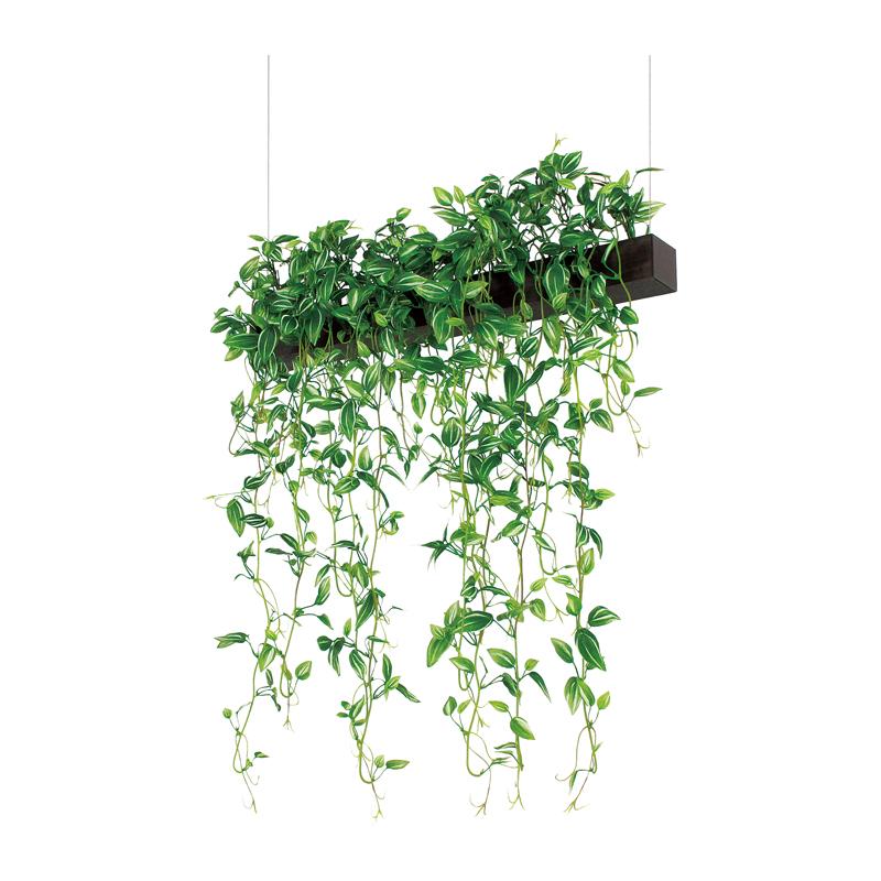 ベルク インテリアパネル グリーンポット デザインポット 吊り下げタイプ GR4062 室内 壁 インテリア おしゃれ 送料無料 緑 植物
