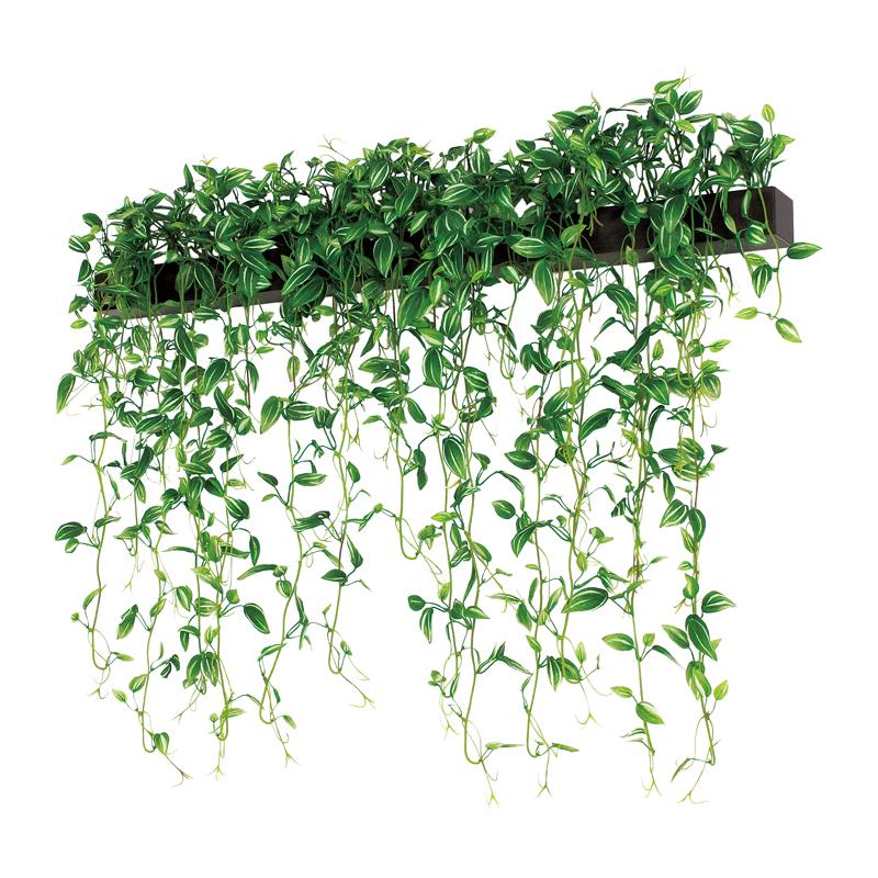 ベルク インテリアパネル グリーンポット デザインポット 壁付けタイプ GR4071 室内 壁 インテリア おしゃれ 送料無料 緑 植物