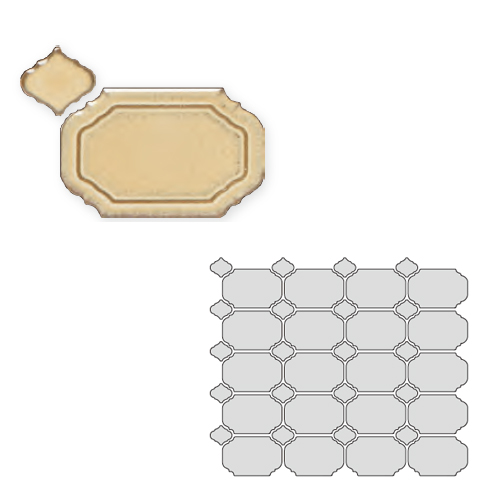 送料無料 TChic SWAN TILE タイル建材 屋内壁用 インテリアタイル Reverie(レベリ) 八角乱形 REV-03