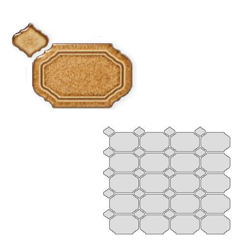 送料無料 TChic SWAN TILE タイル建材 屋内壁用 インテリアタイル Reverie(レベリ) 八角乱形 REV-04