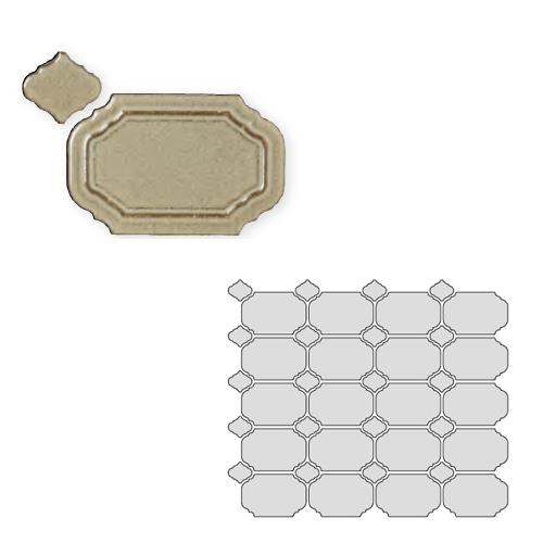 送料無料 TChic SWAN TILE タイル建材 屋内壁用 インテリアタイル Reverie(レベリ) 八角乱形 REV-05