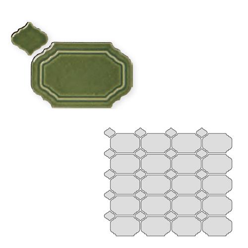送料無料 TChic SWAN TILE タイル建材 屋内壁用 インテリアタイル Reverie(レベリ) 八角乱形 REV-09