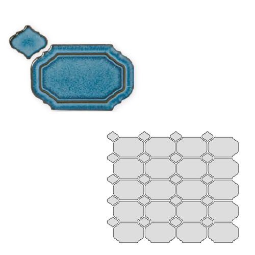 送料無料 TChic SWAN TILE タイル建材 屋内壁用 インテリアタイル Reverie(レベリ) 八角乱形 REV-10
