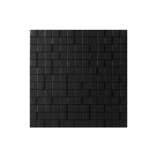 送料無料 TChic SWAN TILE タイル建材 屋内壁用 インテリアタイル Cubee(キューbee) 25mm角平 CUV-03 黒ブライト