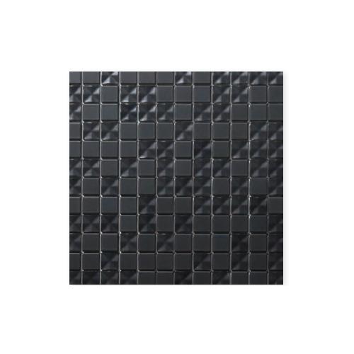 送料無料 TChic SWAN TILE タイル建材 屋内壁用 インテリアタイル Cross shine(クロスシャイン) 25mm角平 CRS-30 黒マット