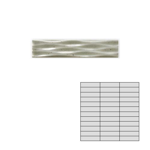 送料無料 TChic SWAN TILE タイル建材 屋内壁用 インテリアタイル Eleganouveau(エレガヌーヴォ) 95×20mmボーダー EN-06FZ
