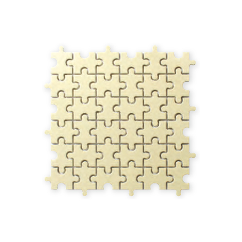 送料無料 TChic SWAN TILE タイル建材 屋内壁用 インテリアタイル Puzzle(パズル) 異形モザイク平 PI-004