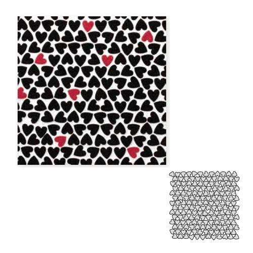 送料無料 Tchic タイル建材 屋内壁床・屋外壁用 インテリアタイル ハート ハートMIXランダム HEART-MIX3
