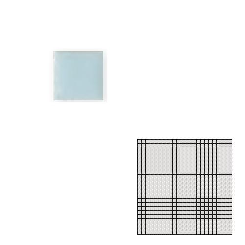 TChic モザイクアート10mm 10角 単色 10-A11 送料無料 タイル建材 インテリアタイル SWAN 超歓迎された 屋内床壁用 TILE 倉庫