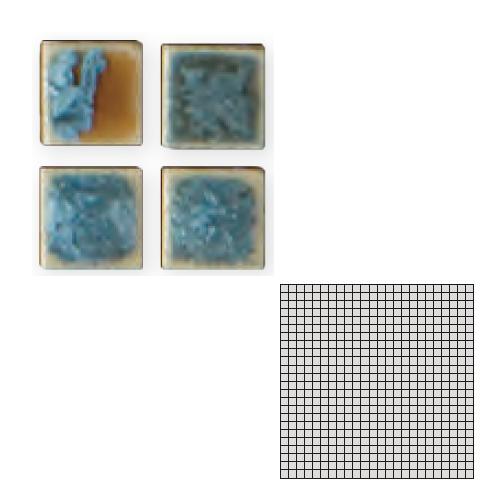 送料無料 TChic SWAN TILE タイル建材 屋内床壁用 インテリアタイル モザイクアート10mm 10角 単色 10-54