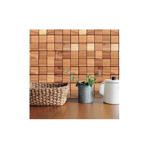 室内用壁材 ウッドタイル 45×45×12mm フラットデザイン 1平米/498枚セット