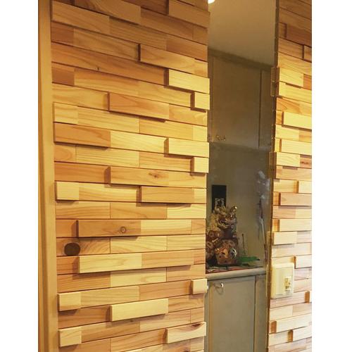 室内用壁材 ウッドタイル 45×180×12+21mm 立体デザイン 1平米/125枚セット