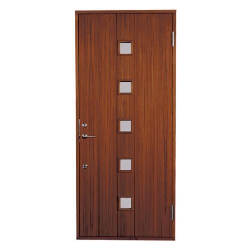 木製玄関ドア 断熱玄関ドア 断熱性 気密性 耐風性 遮音性 passiv material PM-Tc-363G5N チーク ダブルロック