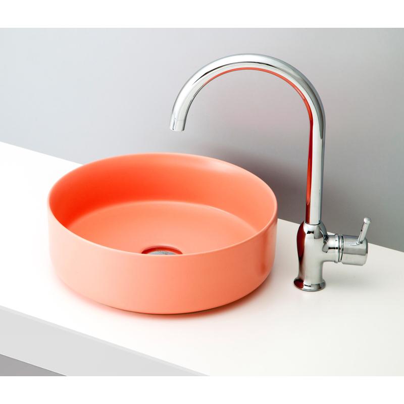 mizunohana 置き型洗面ボウル MATTE マット05 B175 手洗い器 デザイン 陶磁器 ガラス インテリア 水まわり おしゃれ かわいい シンプル モダン カラフル
