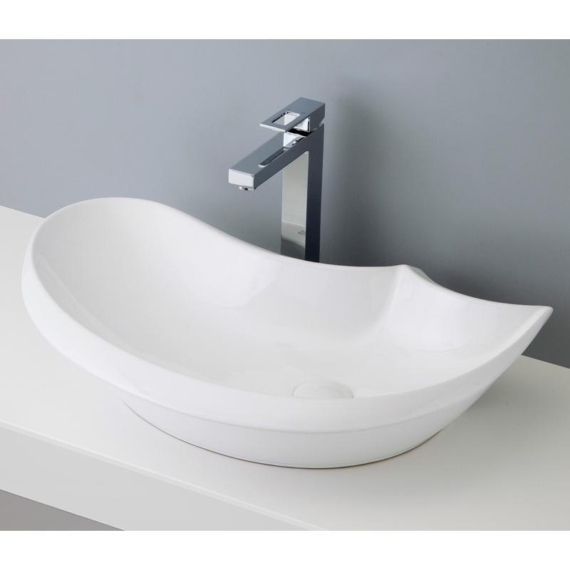 mizunohana 置き型洗面ボウル WHITE ホワイト11 B011 手洗い器 デザイン 陶磁器 ガラス インテリア 水まわり おしゃれ かわいい シンプル モダン カラフル