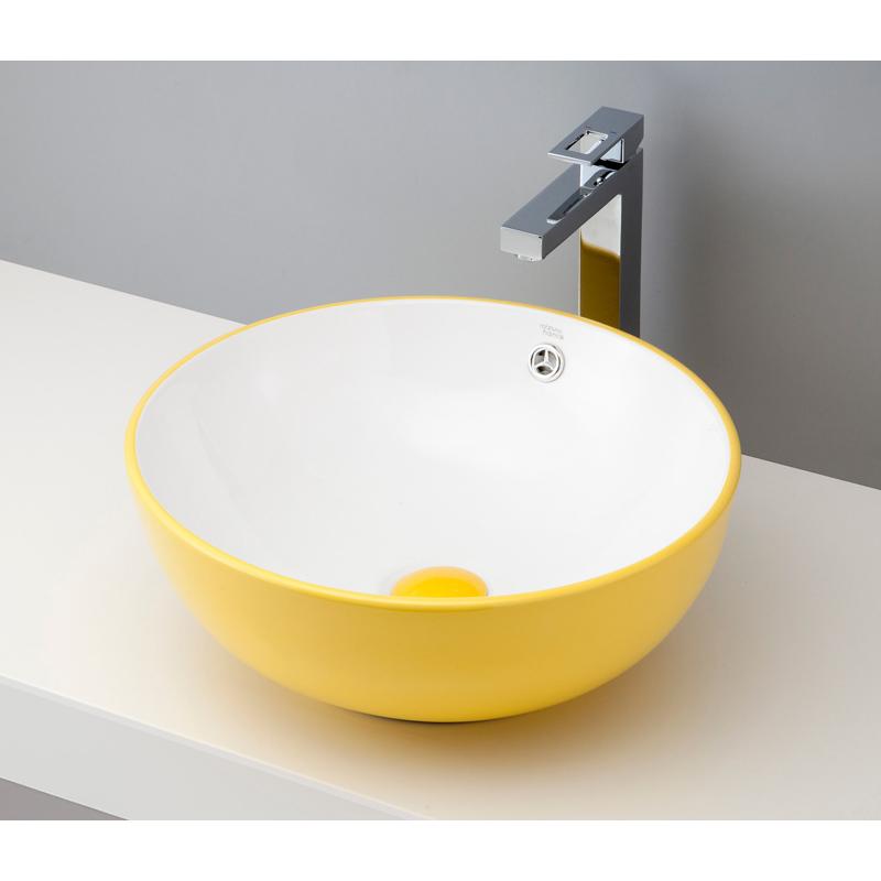 mizunohana 置き型洗面ボウル COLORFUL カラフル02 B019 手洗い器 デザイン 陶磁器 ガラス インテリア 水まわり おしゃれ かわいい シンプル モダン カラフル