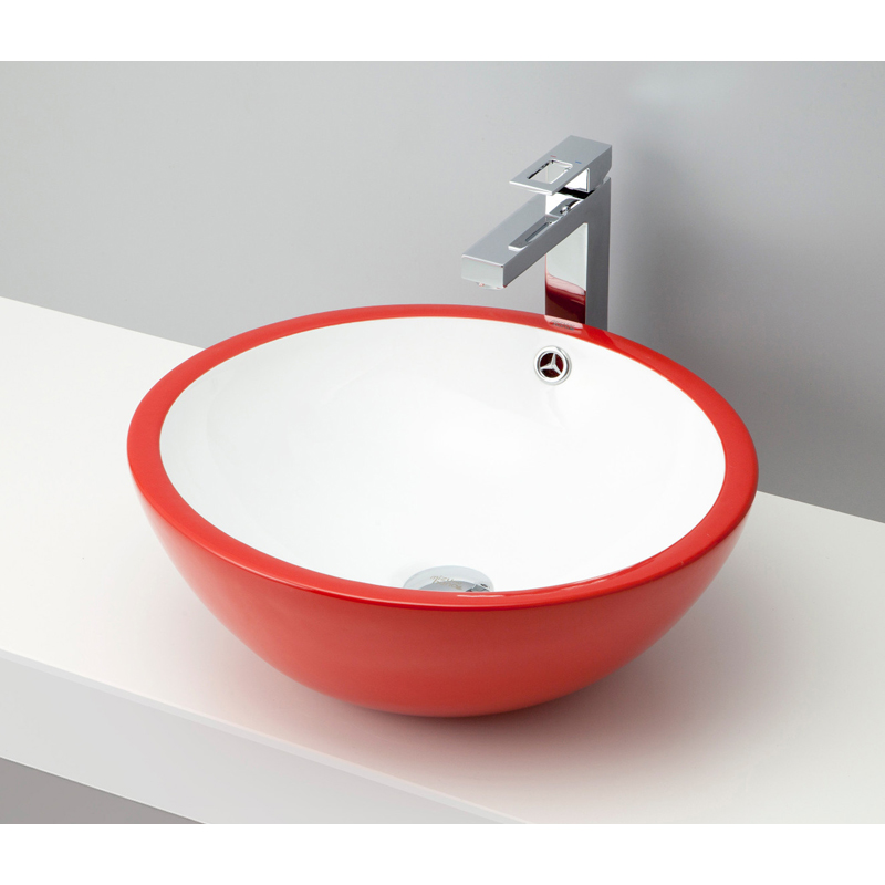 mizunohana 置き型洗面ボウル COLORFUL カラフル09 B085 手洗い器 デザイン 陶磁器 ガラス インテリア 水まわり おしゃれ かわいい シンプル モダン カラフル