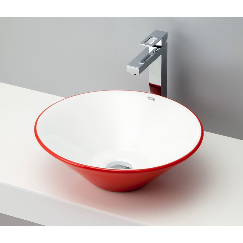 mizunohana 置き型洗面ボウル COLORFUL カラフル18 B103 手洗い器 デザイン 陶磁器 ガラス インテリア 水まわり おしゃれ かわいい シンプル モダン カラフル
