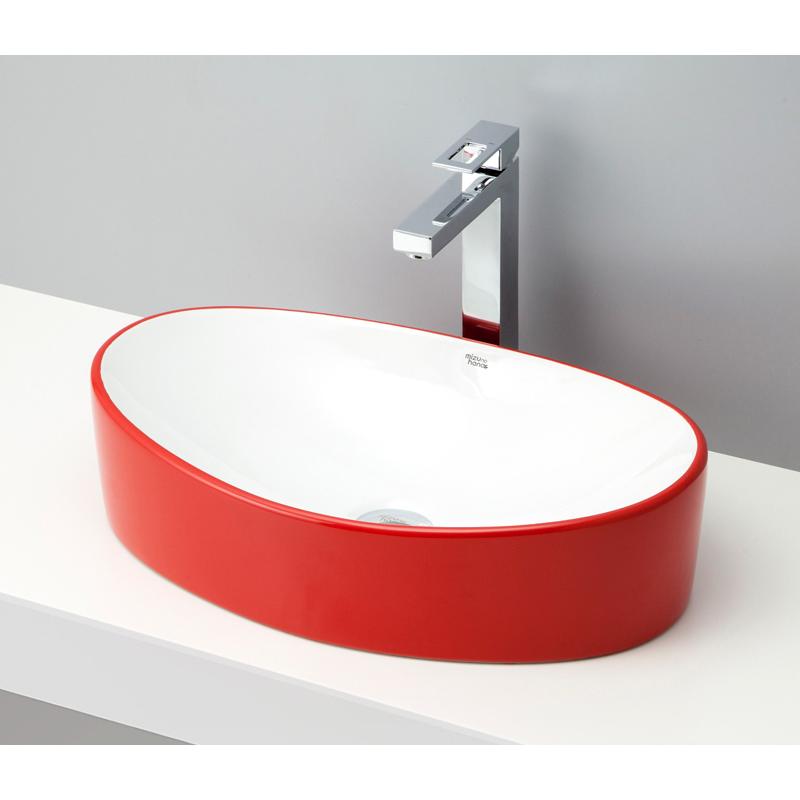 mizunohana 置き型洗面ボウル COLORFUL カラフル23 B114 手洗い器 デザイン 陶磁器 ガラス インテリア 水まわり おしゃれ かわいい シンプル モダン カラフル