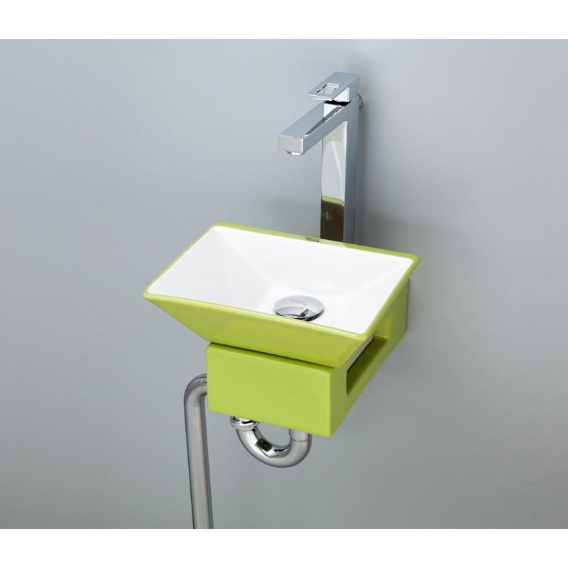 mizunohana 壁掛け型洗面ボウル COLORFUL カラフル14 B090 手洗い器 デザイン 陶磁器 ガラス インテリア 水まわり おしゃれ かわいい シンプル モダン カラフル