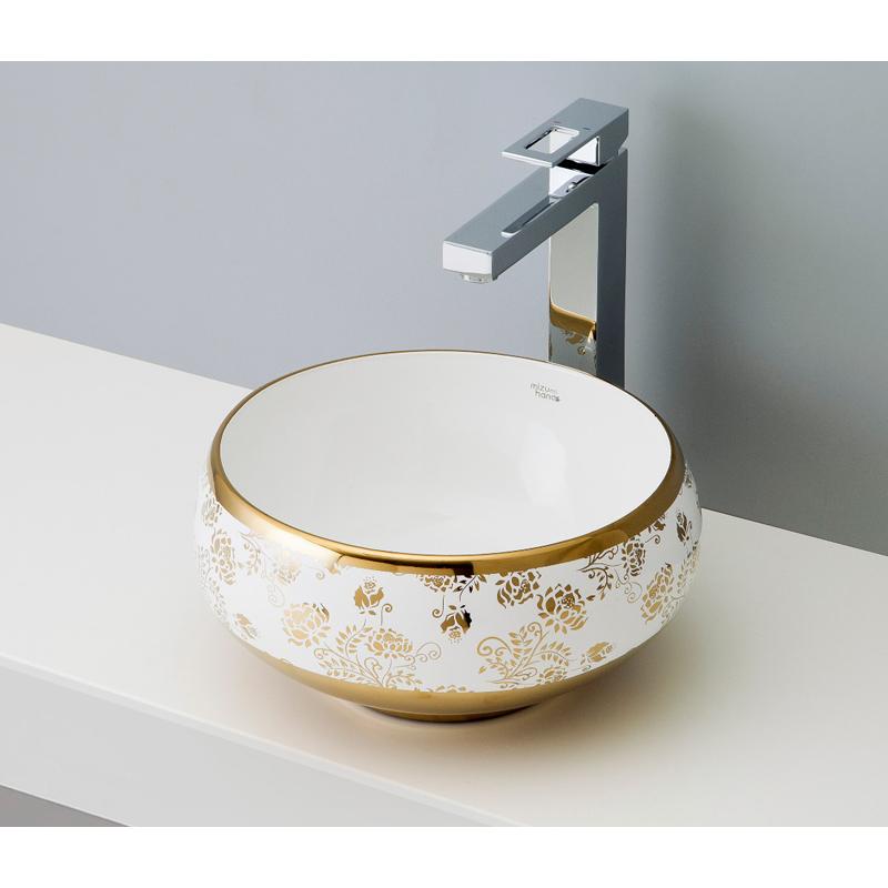 お気に入り かわいい mizunohana 手洗い器 シンプル 置き型洗面ボウル ガラス B044 カラフル:OK-DEPOT WHITE デザイン モダン おしゃれ ELEGANT 陶磁器 エレガントホワイト23-木材・建築資材・設備