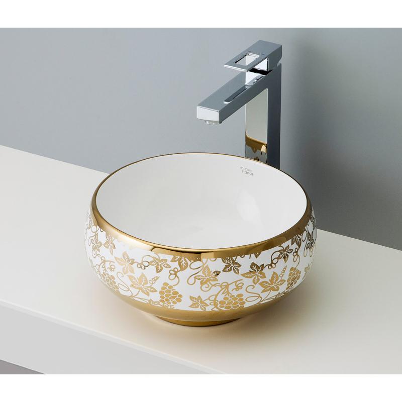 mizunohana 置き型洗面ボウル ELEGANT WHITE エレガントホワイト26 B047 手洗い器 デザイン 陶磁器 ガラス おしゃれ かわいい シンプル モダン カラフル