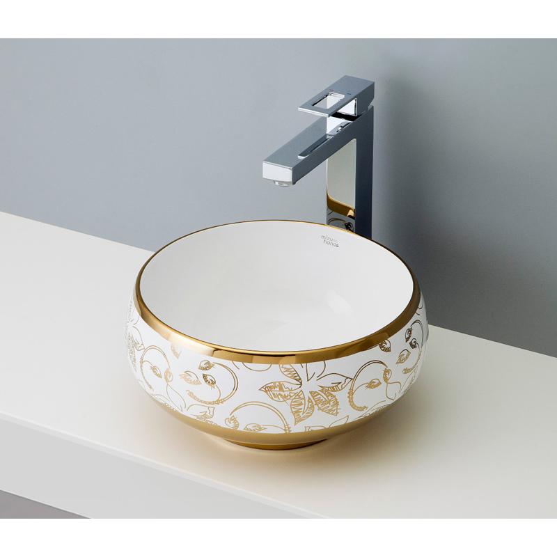 mizunohana 置き型洗面ボウル ELEGANT WHITE エレガントホワイト27 B048 手洗い器 デザイン 陶磁器 ガラス おしゃれ かわいい シンプル モダン カラフル