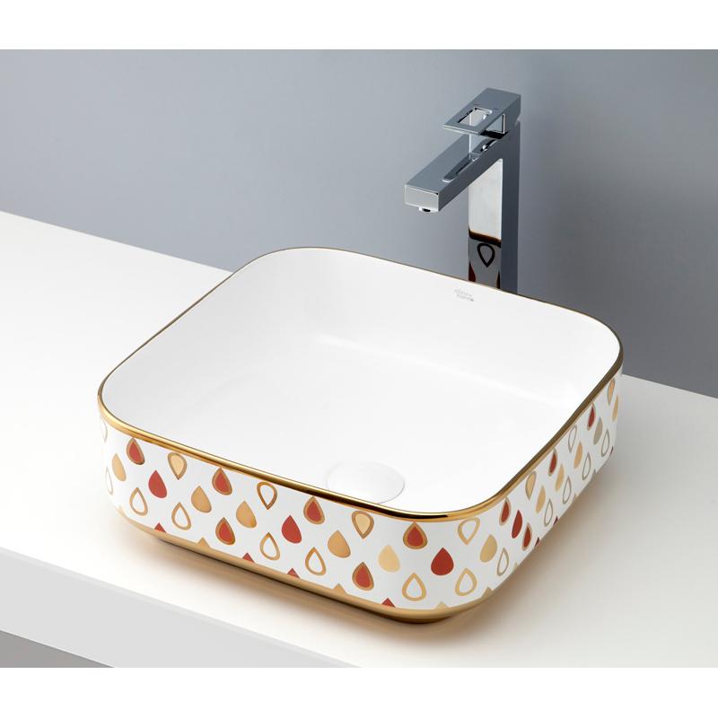 mizunohana 置き型洗面ボウル ELEGANT WHITE エレガントホワイト31 B053 手洗い器 デザイン 陶磁器 ガラス おしゃれ かわいい シンプル モダン カラフル