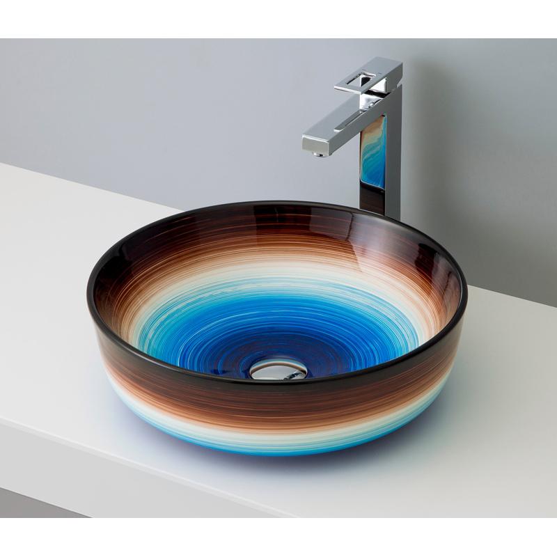 mizunohana 置き型洗面ボウル GRADATION グラデーション01 B069 手洗い器 デザイン 陶磁器 ガラス おしゃれ かわいい シンプル モダン カラフル