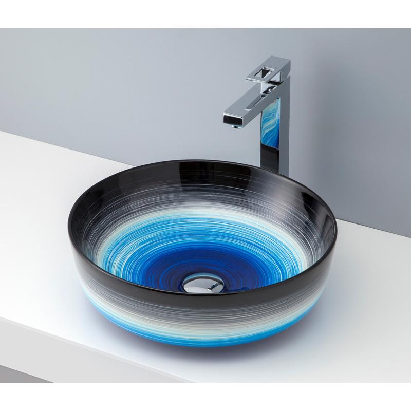 mizunohana 置き型洗面ボウル GRADATION グラデーション02 B070 手洗い器 デザイン 陶磁器 ガラス おしゃれ かわいい シンプル モダン カラフル