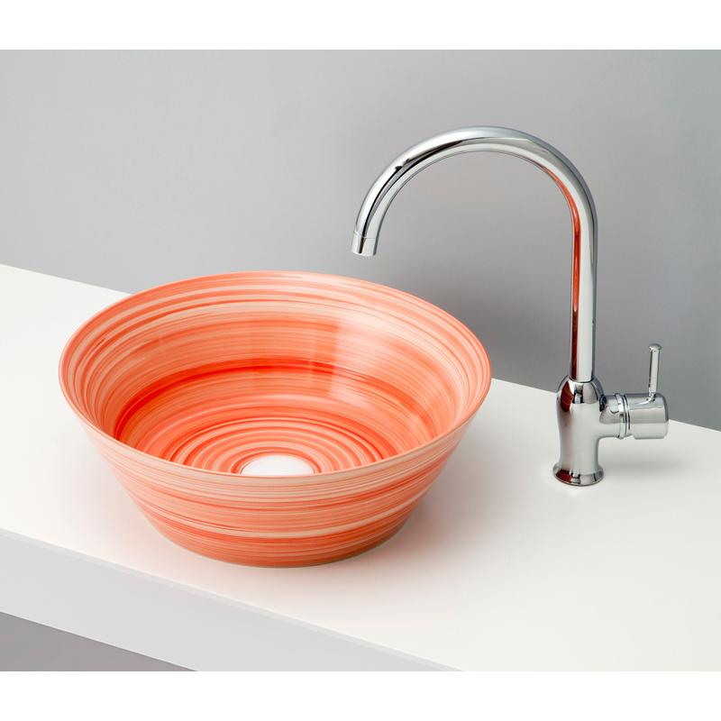 mizunohana 置き型洗面ボウル GRADATION グラデーション04 B113 手洗い器 デザイン 陶磁器 ガラス おしゃれ かわいい シンプル モダン カラフル