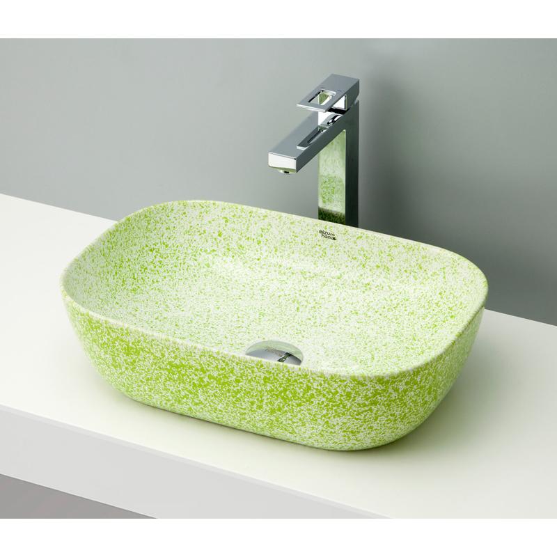 mizunohana 置き型洗面ボウル STONE ストーン02 B104 手洗い器 デザイン 陶磁器 ガラス インテリア 水まわり おしゃれ かわいい シンプル モダン カラフル