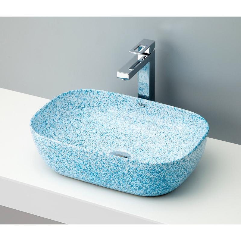 mizunohana 置き型洗面ボウル STONE ストーン03 B105 手洗い器 デザイン 陶磁器 ガラス インテリア 水まわり おしゃれ かわいい シンプル モダン カラフル