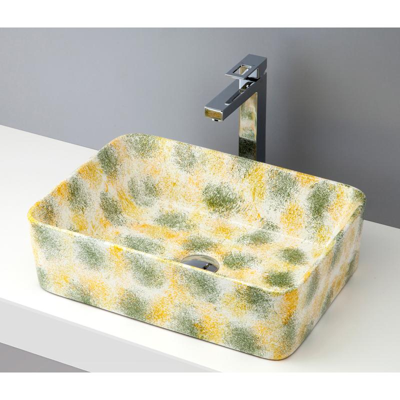 mizunohana 置き型洗面ボウル FLOWER フラワー02 B073 手洗い器 デザイン 陶磁器 ガラス インテリア 水まわり おしゃれ かわいい シンプル モダン カラフル