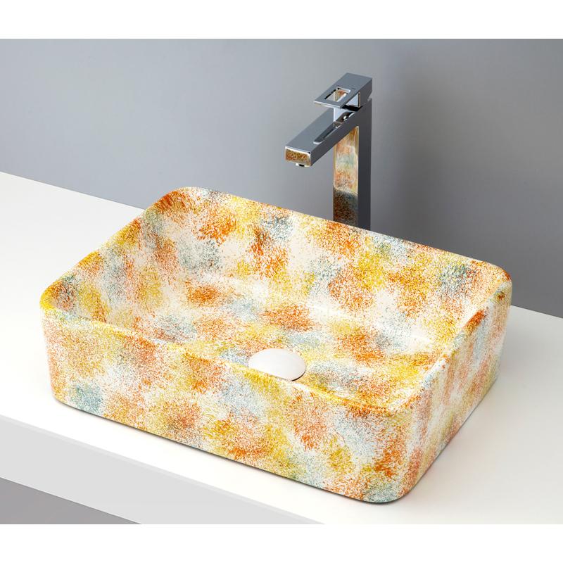 mizunohana 置き型洗面ボウル FLOWER フラワー03 B074 手洗い器 デザイン 陶磁器 ガラス インテリア 水まわり おしゃれ かわいい シンプル モダン カラフル