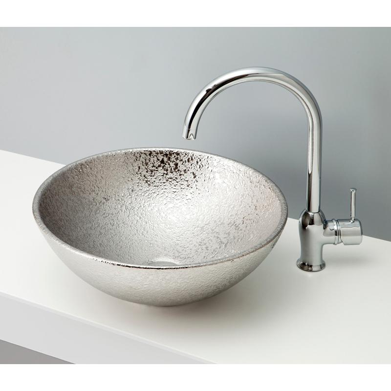 mizunohana 置き型洗面ボウル METALLIC メタリック02 B082 手洗い器 デザイン 陶磁器 ガラス インテリア 水まわり おしゃれ かわいい シンプル モダン カラフル